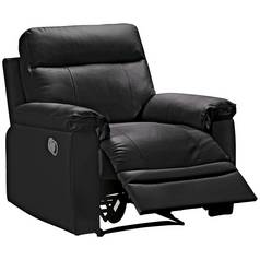Argos Home Paolo Faux Leather Manual Recliner Chair - Black