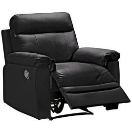 Argos Home Paolo Leather Mix Manual Recliner Chair - Black
