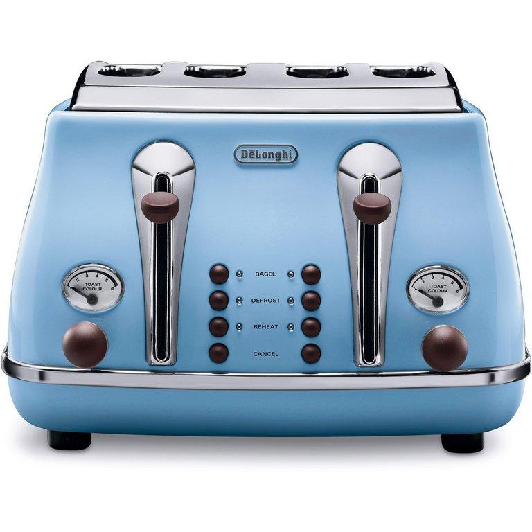 Buy De'Longhi Icona Vintage 4 Slice Toaster - Blue at ...