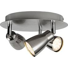 Results for brushed chrome ceiling lights collection miller 3 spotlight ceiling plate brushed chrome aloadofball Image collections