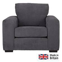 Heart of House Eton Fabric Armchair - Charcoal
