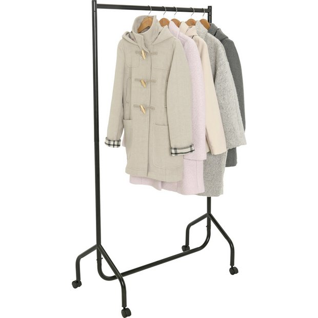 Home Single Heavy Duty Clothes Rail Black At Argos Co Uk Your Online For Hanging Rails Bedroom Furniture And Garden