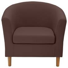 HOME Fabric Tub Chair - Brown