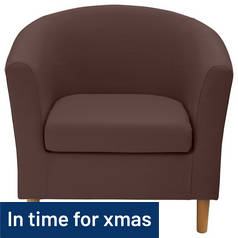 Argos Home Fabric Tub Chair - Brown