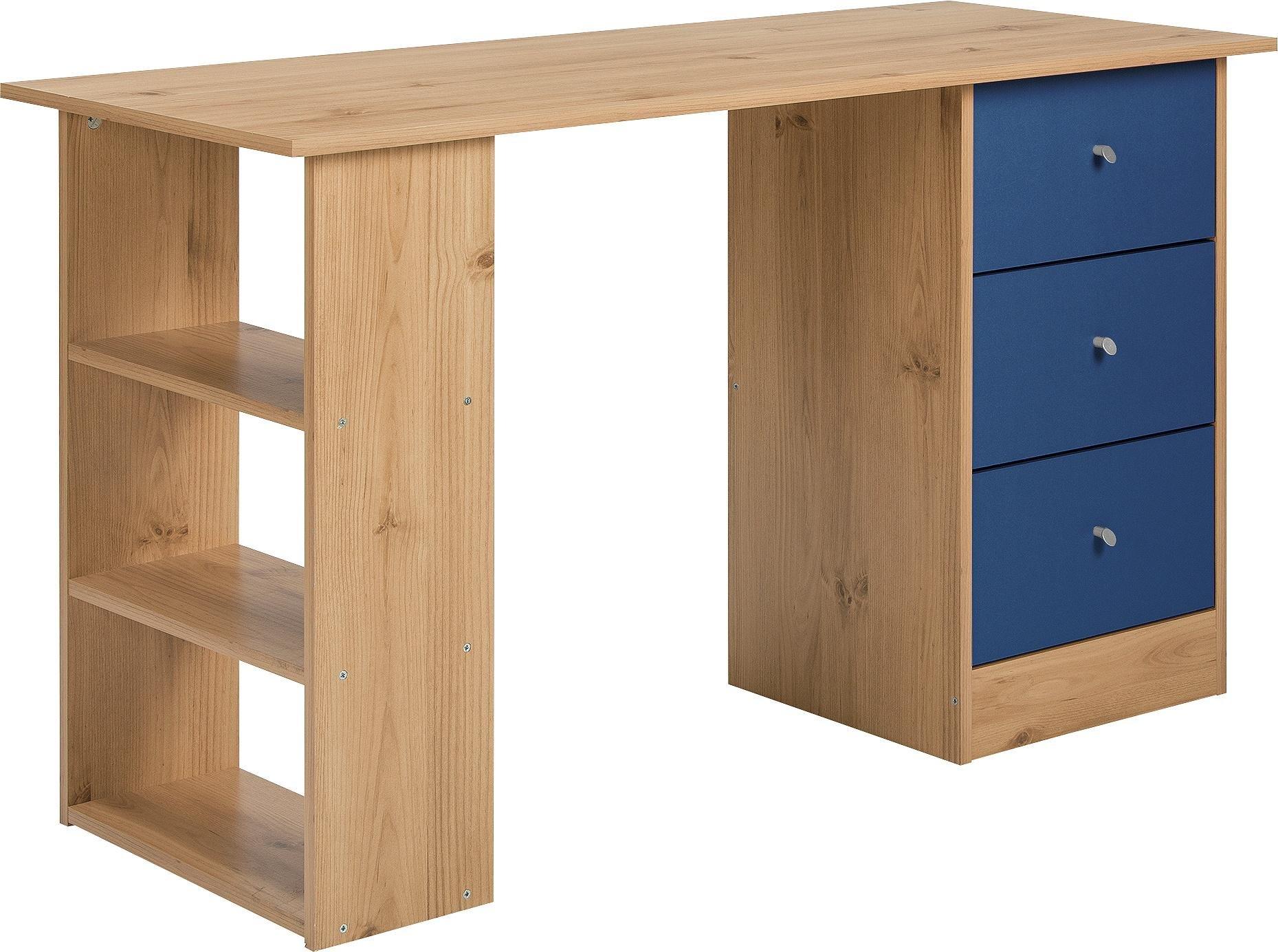 childrens office chair. HOME Kids New Malibu 3 Drawer Desk - Blue On Pine Childrens Office Chair S