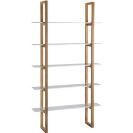 Habitat Loki 5 Shelf Solid Oak Shelving Unit - White