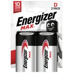 more details on Energizer Max D Batteries - Pack of 2.