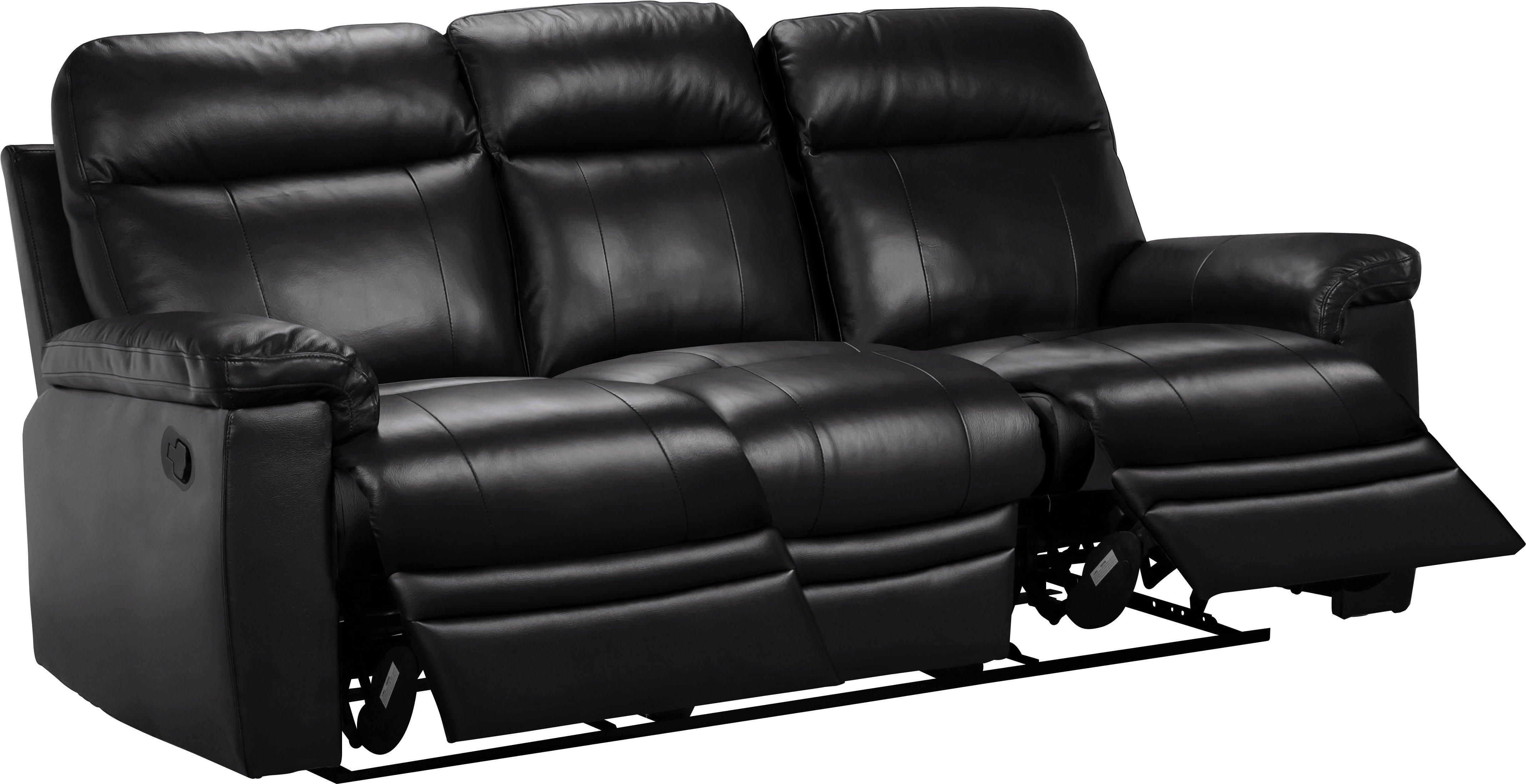 Merveilleux Argos Home New Paolo 3 Seater Manual Recliner Sofa   Black