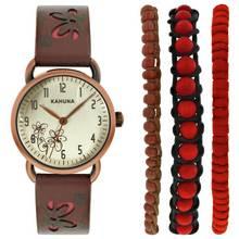 Kahuna Ladies' Strap Watch and Bracelet Set