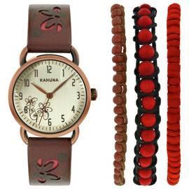 Kahuna Ladies' Strap Watch and Bracelet Set