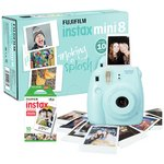 more details on Fujifilm Instax Mini 8 Instant Camera with 10 Shots - Blue.