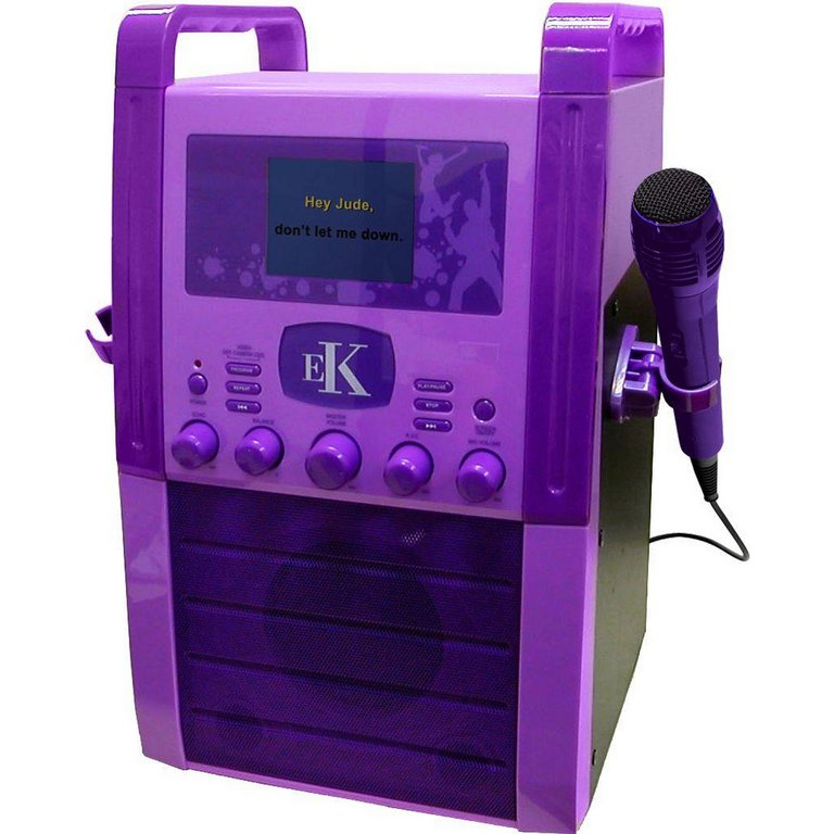 karaoke machine with screen for