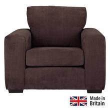 Heart of House Eton Fabric Armchair - Chocolate