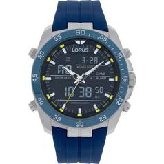 Lorus Men's Blue Strap Sports Watch
