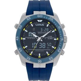 Lorus Men's Blue Silicon Strap Chronograph Watch