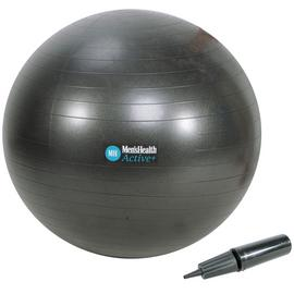 Men's Health Black Gym Ball - 75cm