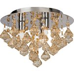 more details on HOME Eve 3 Light Ceiling Fitting - Champagne.