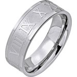 more details on Stainless Steel Roman Numeral Band Ring.