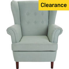 Argos Home Martha Fabric Wingback Chair - Duck Egg