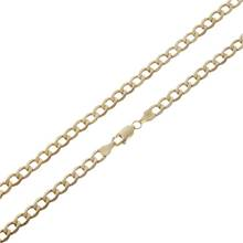Revere 9ct Gold Solid Look Curb Chain - 20in