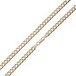 more details on Revere 9ct Gold Plated Sterling Silver Solid Curb Chain.