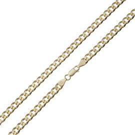 Revere 9ct Gold Plated Solid Curb 20 Inch Chain
