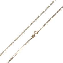 Revere 9ct Gold 3-in-1 Figaro Chain - 20in