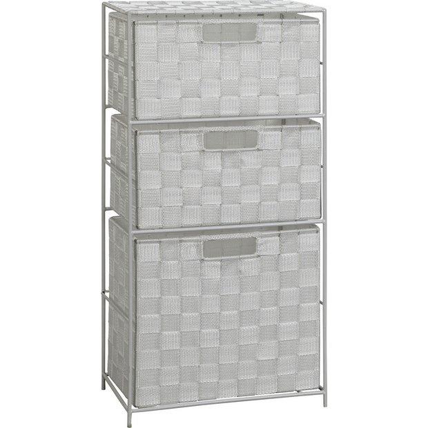 Buy Argos Home Wide 3 Drawer Bathroom Storage Unit Bathroom
