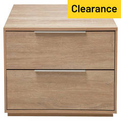 Argos Home Bergen 2 Drawer Mirrored Bedside Chest