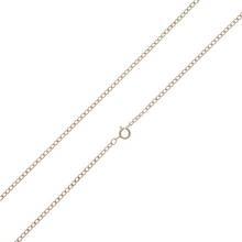 Revere 9ct Gold Diamond Cut Hollow Curb Chain