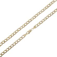Revere 9ct Gold Plated Sterling Silver Solid Curb Chain