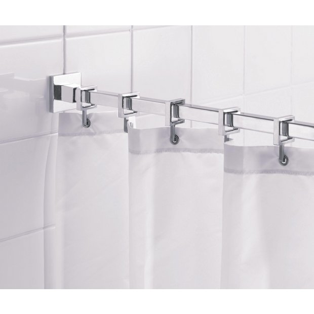 Curtains Ideas curtain pole clips : Buy Shower curtains and poles at Argos.co.uk - Your Online Shop ...