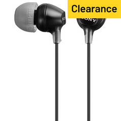 Sony EX15 In-Ear Headphones - Black