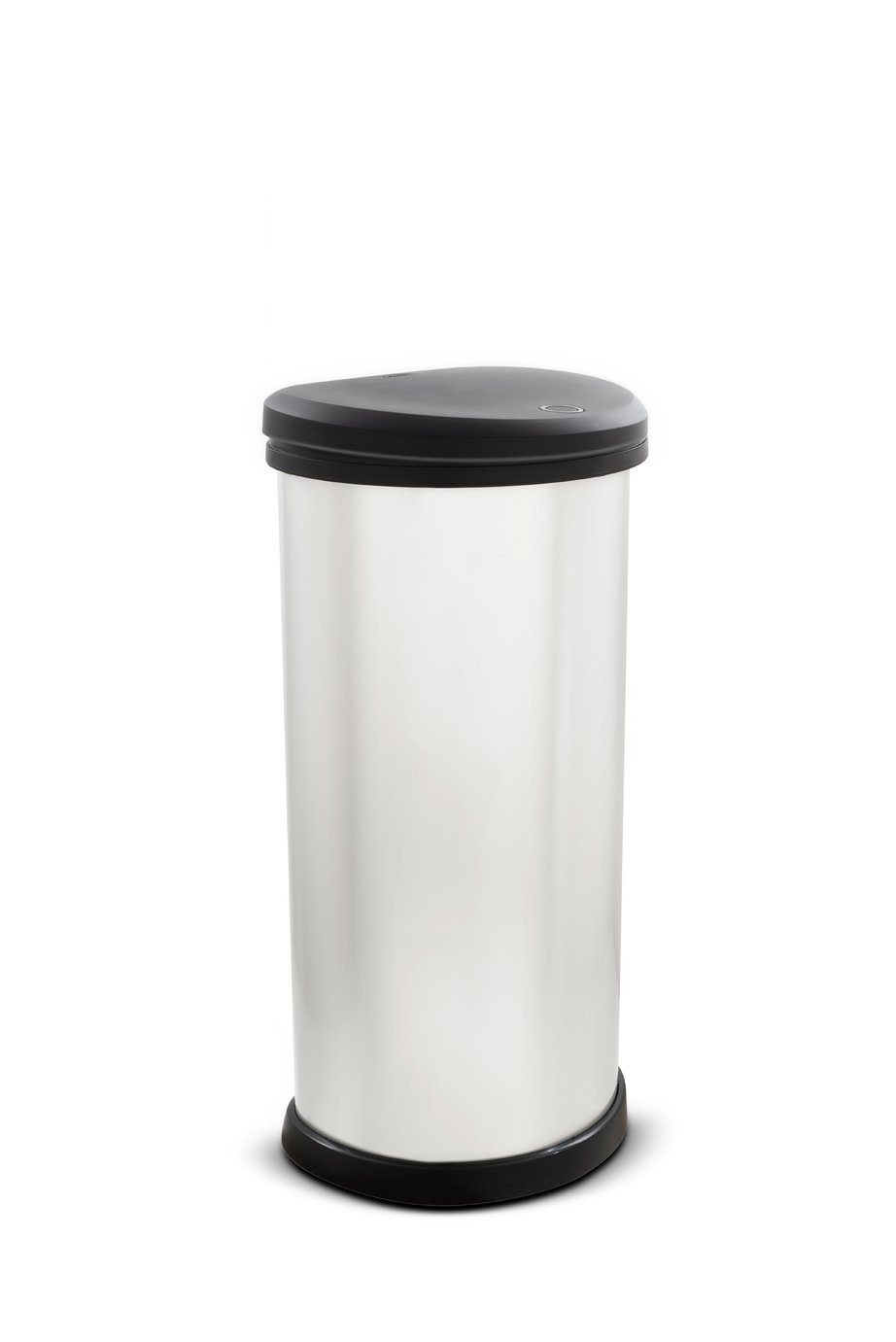 Curver 40 Litre Deco Touch Top Kitchen Bin   Silver