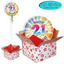 Happy 21st Birthday Balloon in a Box.