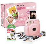 more details on Fujifilm Instax Mini 8 Instant Camera with 10 Shots - Pink.