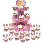 more details on Disney Princess Sparkle 3 Tier Cake Stand and 48 Cases.
