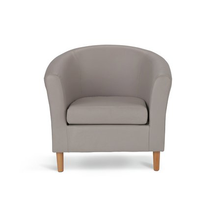 Sensational Buy Argos Home Faux Leather Tub Chair Mocha Armchairs And Chairs Argos Dailytribune Chair Design For Home Dailytribuneorg