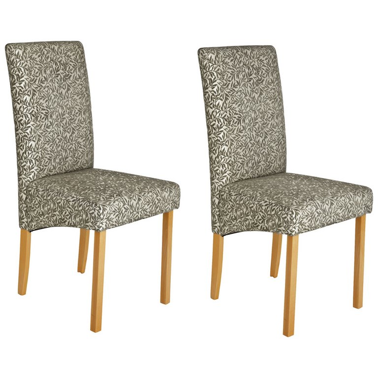Buy Collection Pair Of Floral Fabric Skirted Dining Chairs