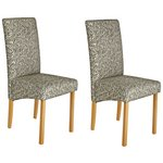 more details on Heart of House Pair of Fabric Skirted Dining Chairs - Floral