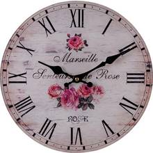Collection Faded Rose Glass Wall Clock