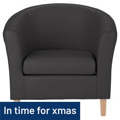 Argos Home Leather Effect Tub Chair - Black