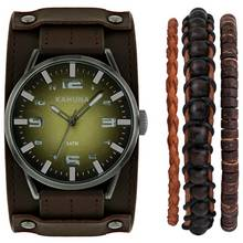 Kahuna Men's Stacker Strap Watch Set