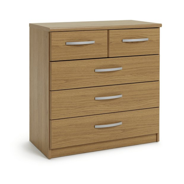 buy collection new hallingford 3 2 drawer chest   oak