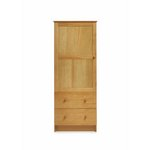 more details on Obaby Single Wardrobe - Country Pine.