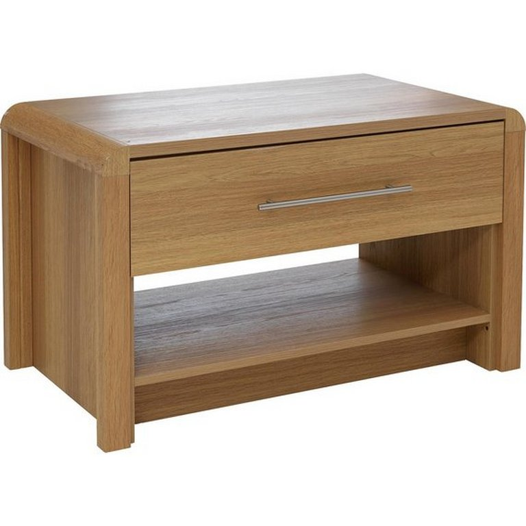 buy heart of house elford 1 drawer coffee table - oak effect at