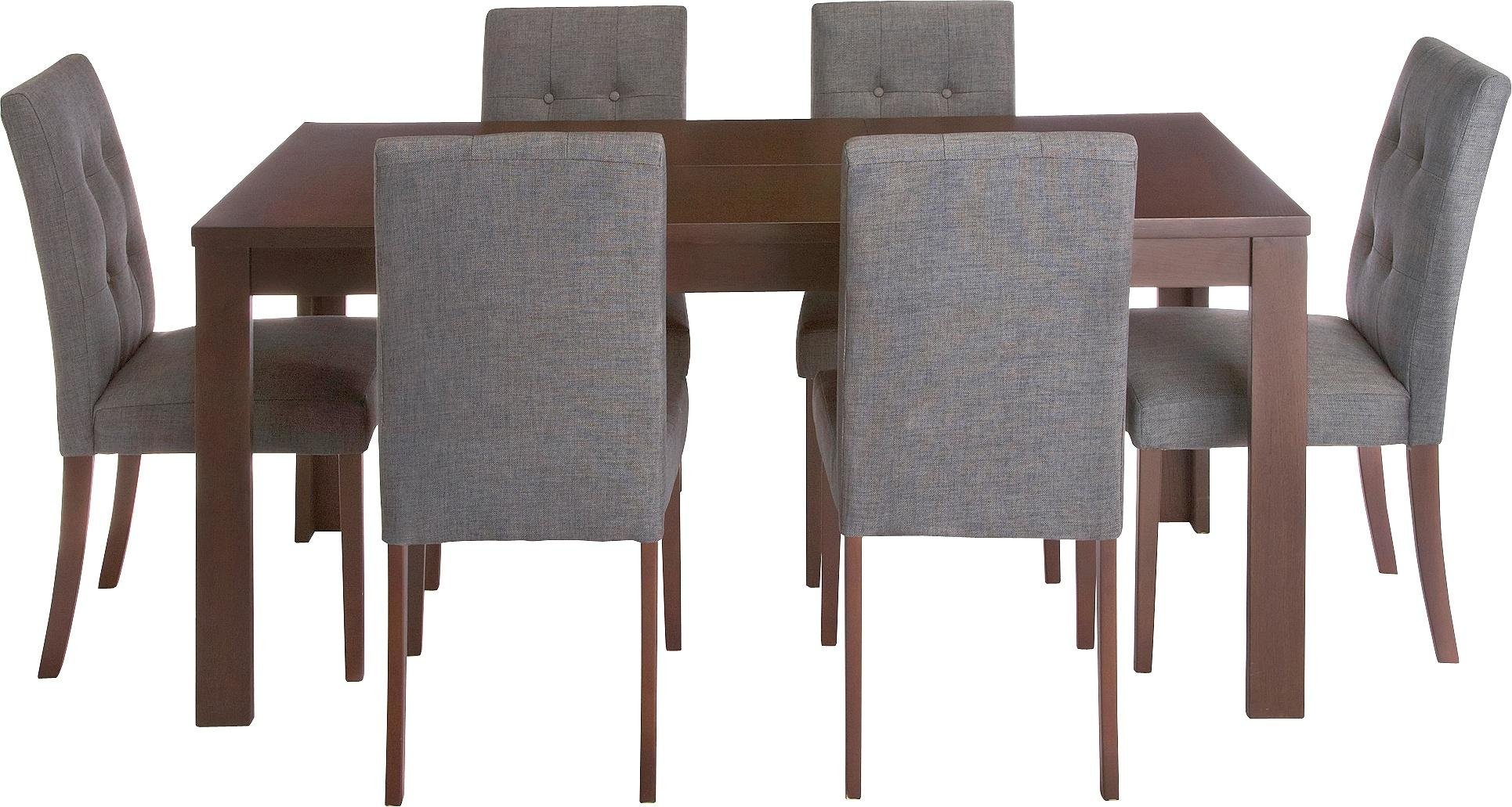 Buy Collection Adaline Ext Oak Vnr Table   Chairs - Charcoal at