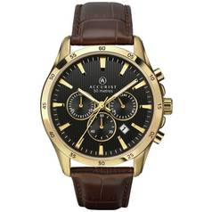 Accurist Men's Brown Leather Chronograph Watch