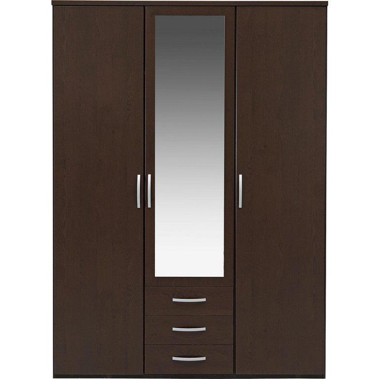 Buy Collection New Hallingford 3 Dr 3 Drw Mirror Wardrobe