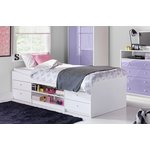 more details on HOME Malibu Cabin Bed Frame - White.